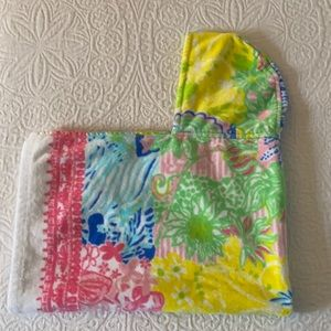 Lily Pulitzer baby towel with hood